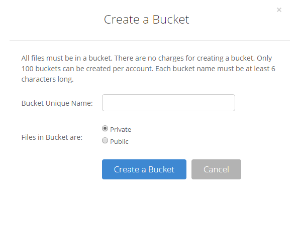 Create a Backblaze B2 Bucket